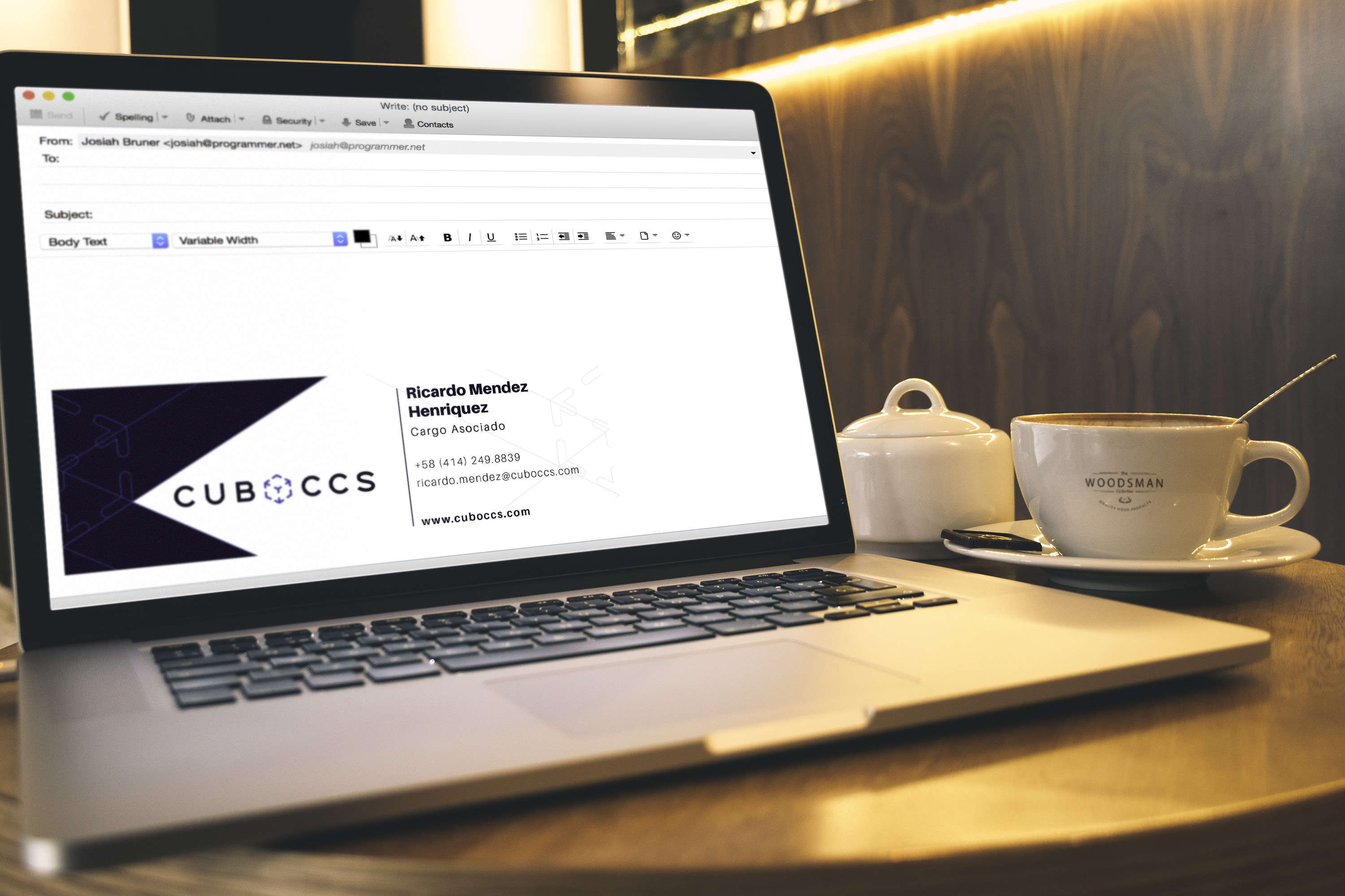 Macbook Pro And Coffe Cup Mockup